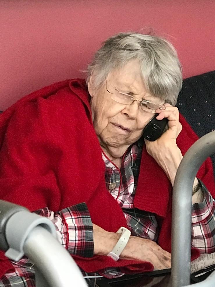 Mama on phone